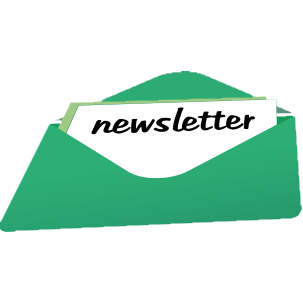 "Image of green envelope with a message saying ""Newsletter"""