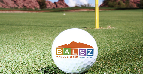 golf ball with Balsz logo