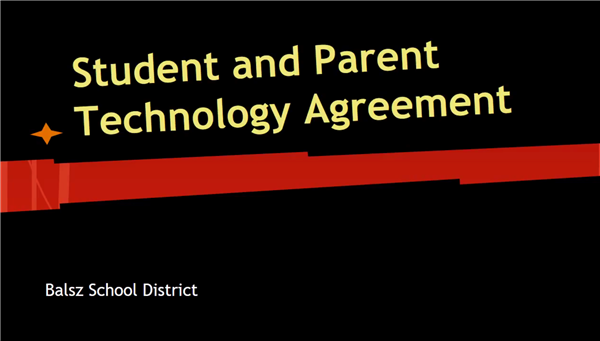 Image: Student and Parent Technology Agreement - Balsz School District