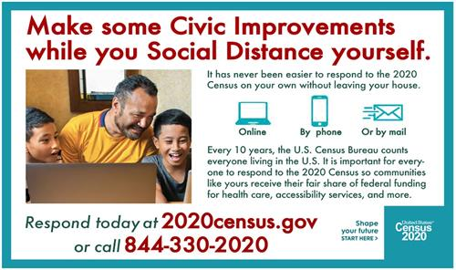 Census Social distancing tips