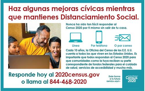 census social distancing tips in Spanish