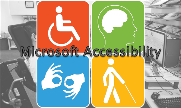 Microsoft Accessibility features icons